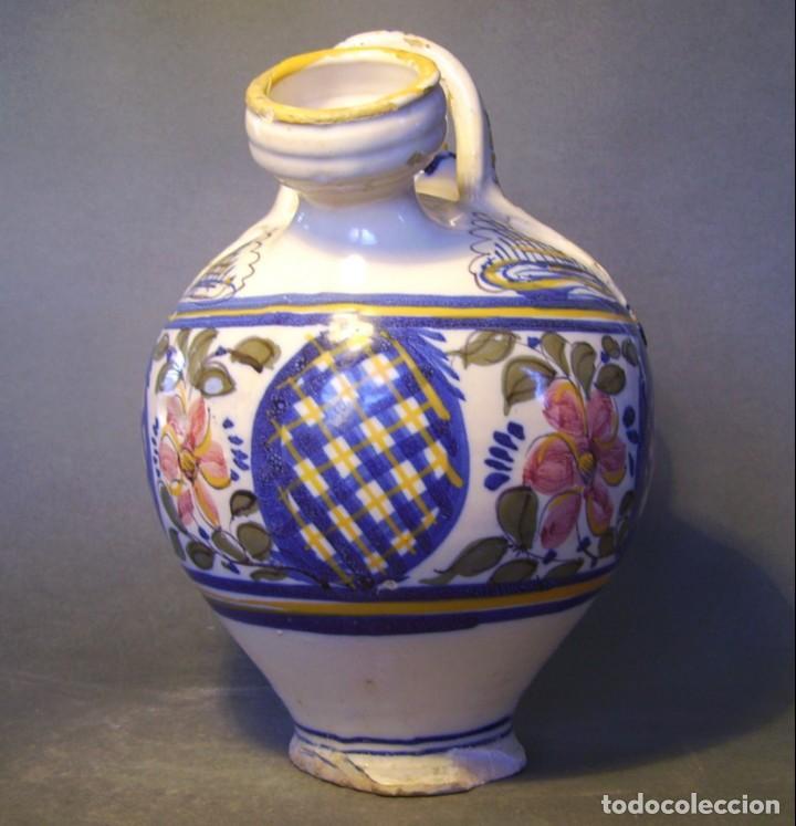Antigüedades: GRAN BOTIJO CERÁMICA TALAVERA XIX ( VIRGEN DEL PRADO ) - Foto 5 - 147127046