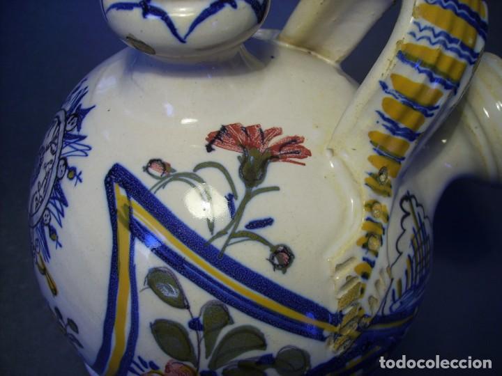 Antigüedades: GRAN BOTIJO CERÁMICA TALAVERA XIX ( VIRGEN DEL PRADO ) - Foto 7 - 147127046