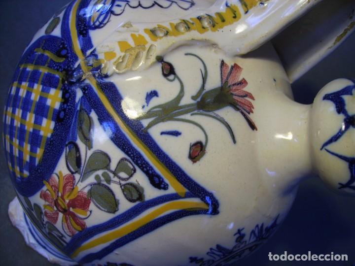 Antigüedades: GRAN BOTIJO CERÁMICA TALAVERA XIX ( VIRGEN DEL PRADO ) - Foto 9 - 147127046