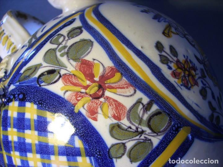 Antigüedades: GRAN BOTIJO CERÁMICA TALAVERA XIX ( VIRGEN DEL PRADO ) - Foto 11 - 147127046