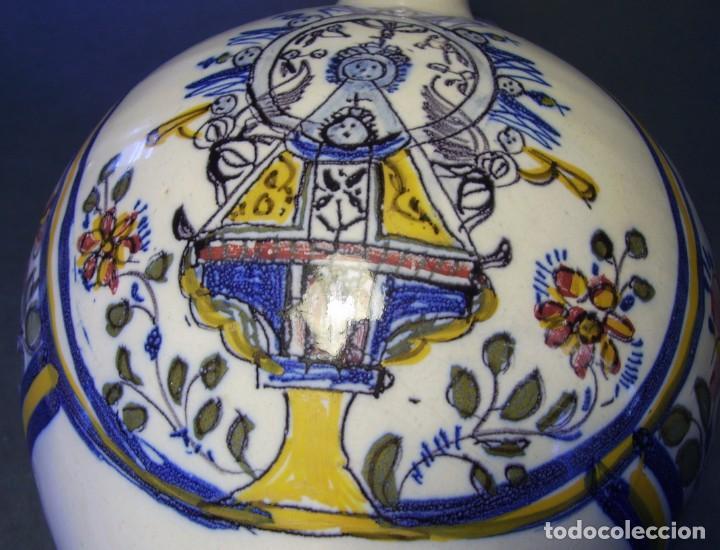 Antigüedades: GRAN BOTIJO CERÁMICA TALAVERA XIX ( VIRGEN DEL PRADO ) - Foto 12 - 147127046