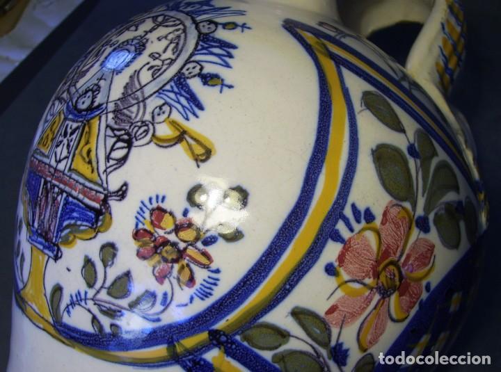 Antigüedades: GRAN BOTIJO CERÁMICA TALAVERA XIX ( VIRGEN DEL PRADO ) - Foto 13 - 147127046