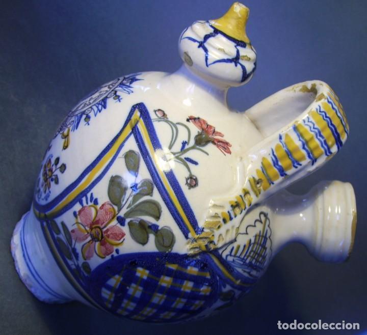 Antigüedades: GRAN BOTIJO CERÁMICA TALAVERA XIX ( VIRGEN DEL PRADO ) - Foto 14 - 147127046