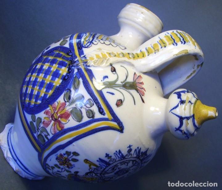 Antigüedades: GRAN BOTIJO CERÁMICA TALAVERA XIX ( VIRGEN DEL PRADO ) - Foto 16 - 147127046