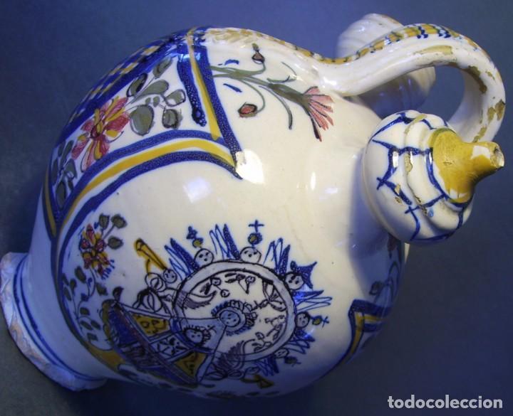 Antigüedades: GRAN BOTIJO CERÁMICA TALAVERA XIX ( VIRGEN DEL PRADO ) - Foto 17 - 147127046