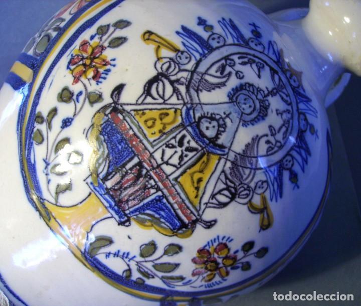 Antigüedades: GRAN BOTIJO CERÁMICA TALAVERA XIX ( VIRGEN DEL PRADO ) - Foto 19 - 147127046