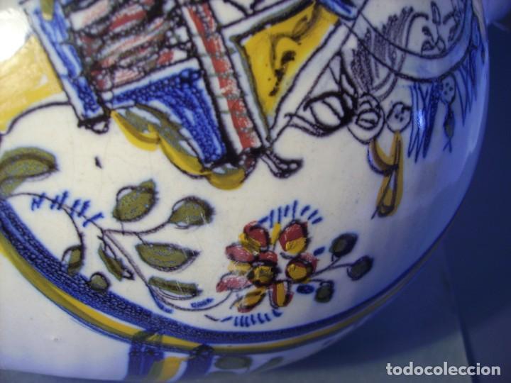 Antigüedades: GRAN BOTIJO CERÁMICA TALAVERA XIX ( VIRGEN DEL PRADO ) - Foto 20 - 147127046