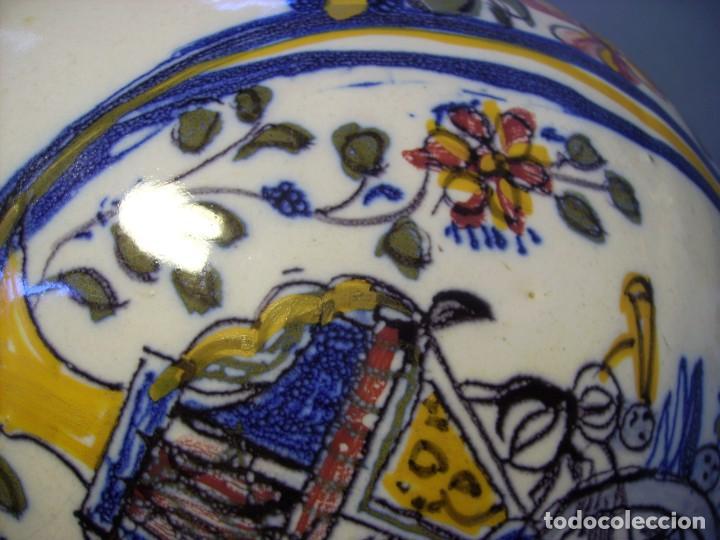 Antigüedades: GRAN BOTIJO CERÁMICA TALAVERA XIX ( VIRGEN DEL PRADO ) - Foto 21 - 147127046