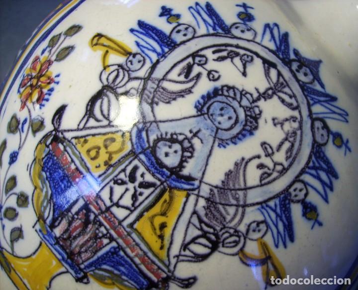 Antigüedades: GRAN BOTIJO CERÁMICA TALAVERA XIX ( VIRGEN DEL PRADO ) - Foto 22 - 147127046