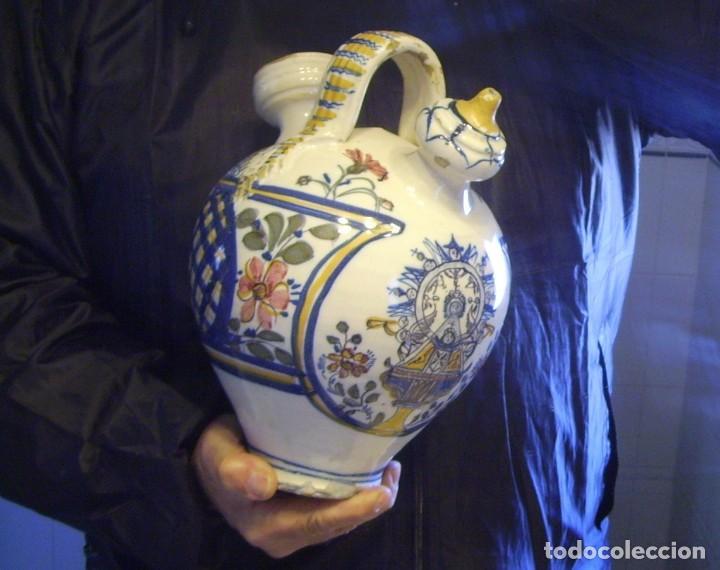 Antigüedades: GRAN BOTIJO CERÁMICA TALAVERA XIX ( VIRGEN DEL PRADO ) - Foto 23 - 147127046