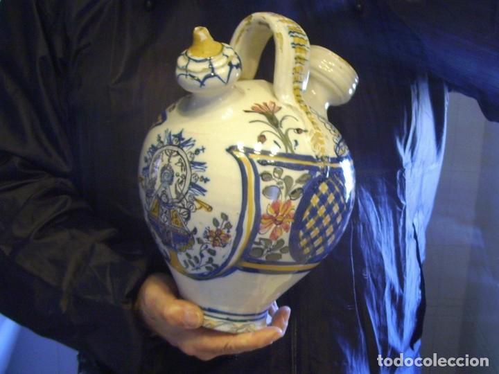 Antigüedades: GRAN BOTIJO CERÁMICA TALAVERA XIX ( VIRGEN DEL PRADO ) - Foto 24 - 147127046