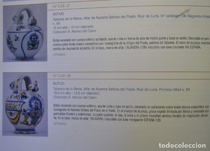 Antigüedades: GRAN BOTIJO CERÁMICA TALAVERA XIX ( VIRGEN DEL PRADO ) - Foto 25 - 147127046