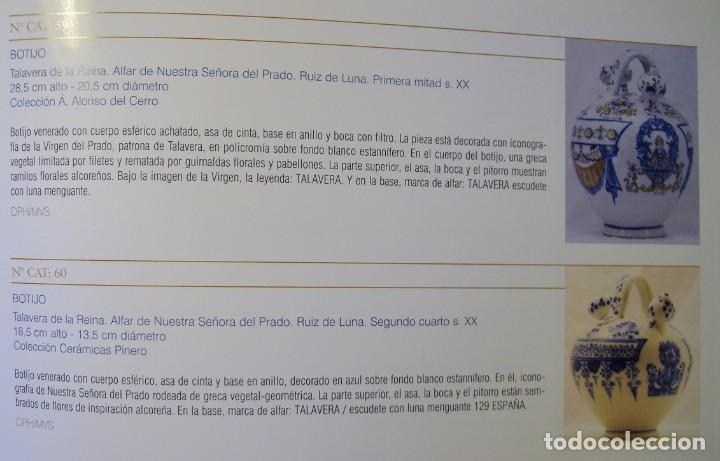 Antigüedades: GRAN BOTIJO CERÁMICA TALAVERA XIX ( VIRGEN DEL PRADO ) - Foto 26 - 147127046