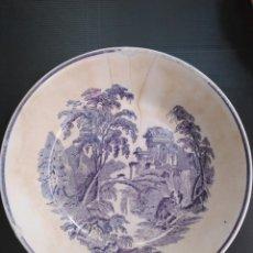 Antigüedades: ANTIGUA PLATO HONDO SIGLO XIX OVIEDO. Lote 147127222