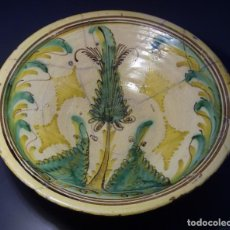 Antigüedades: ROTUNDO PLATO CERÁMICA DE PUENTE DEL ARZOBISPO XIX . Lote 147129654