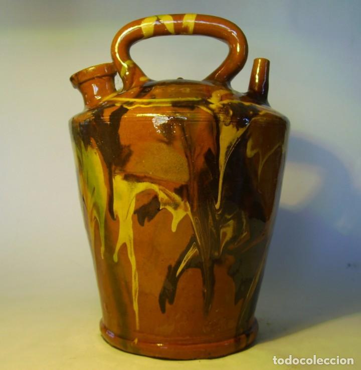 GRAN BOTIJO TERRISSA CATALANA XX (Antigüedades - Porcelanas y Cerámicas - Catalana)