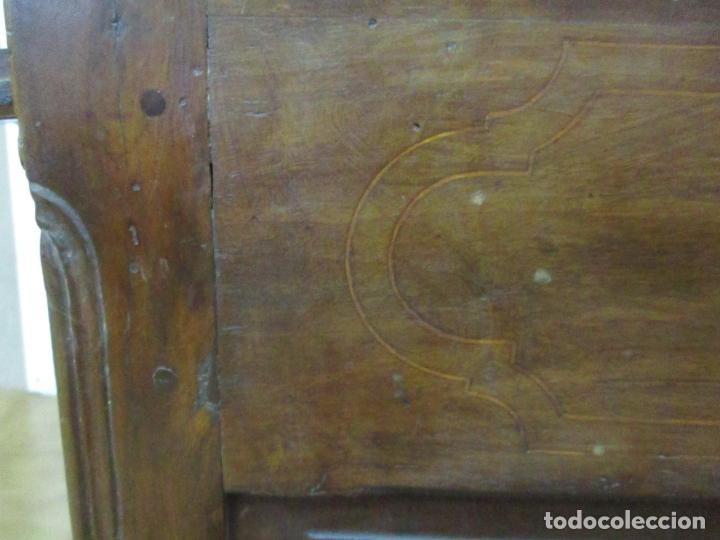 Antigüedades: Canterano Catalán (Torroella, Empordà) - Escritorio - Madera de Nogal y Marquetería - S. XVIII - Foto 40 - 147134814