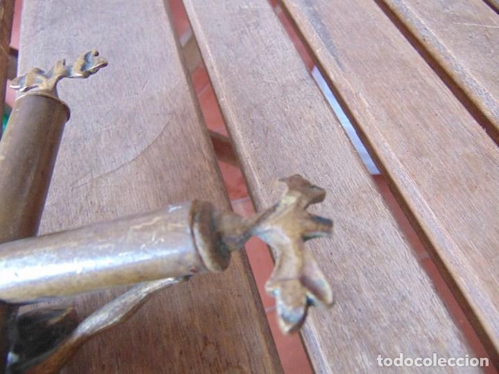 Antigüedades: CRUZ CRUCIFIJO DE ALTAR DE IGLESIA O SIMILAR EN BRONCE MIDE 28,5 X 17.5 CM - Foto 12 - 147141390