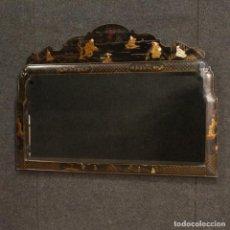 Antigüedades: ESPEJO FRANCÉS LACADO Y PINTADO CHINOISERIE. Lote 147147342