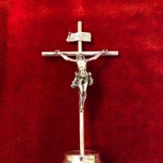 Antigüedades: CRUCIFIJO CRUZ CRUCIFICADO PLATA DE LEY. Lote 147169602