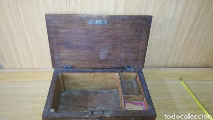 Antigüedades: Caja tallada de madera de roble - Foto 6 - 147189721