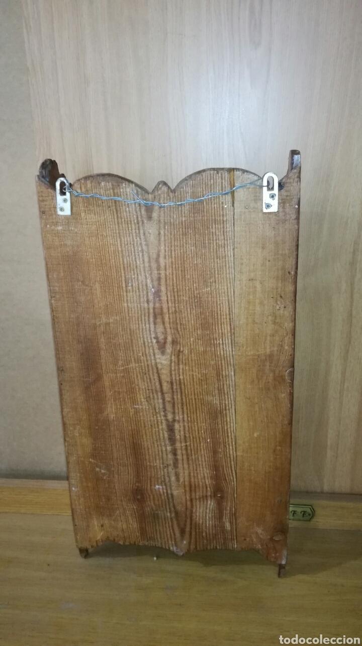 Antigüedades: Especiero de madera de pino con mucha patina - Foto 4 - 147191493