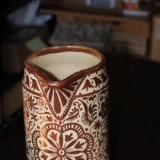Antigüedades: JARRA DE REFLEJOS METALICOS VICENTE GIMENO CON TAPA. Lote 147197846