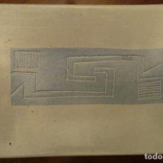 Antigüedades: BANDEJA SALVILLA RECTANGULAR PORCELANA GRES 24X17 , ANAGRAMA POR FIRMA. Lote 147198654