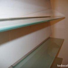 Antigüedades: BALDAS ESTANTERÍAS DE CRISTAL IKEA MODELO LJUSDAL. Lote 147201450