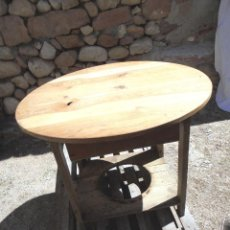 Antigüedades: GRAN MESA CAMILLA RÚSTICA EN PINO MACIZO. Lote 147214506