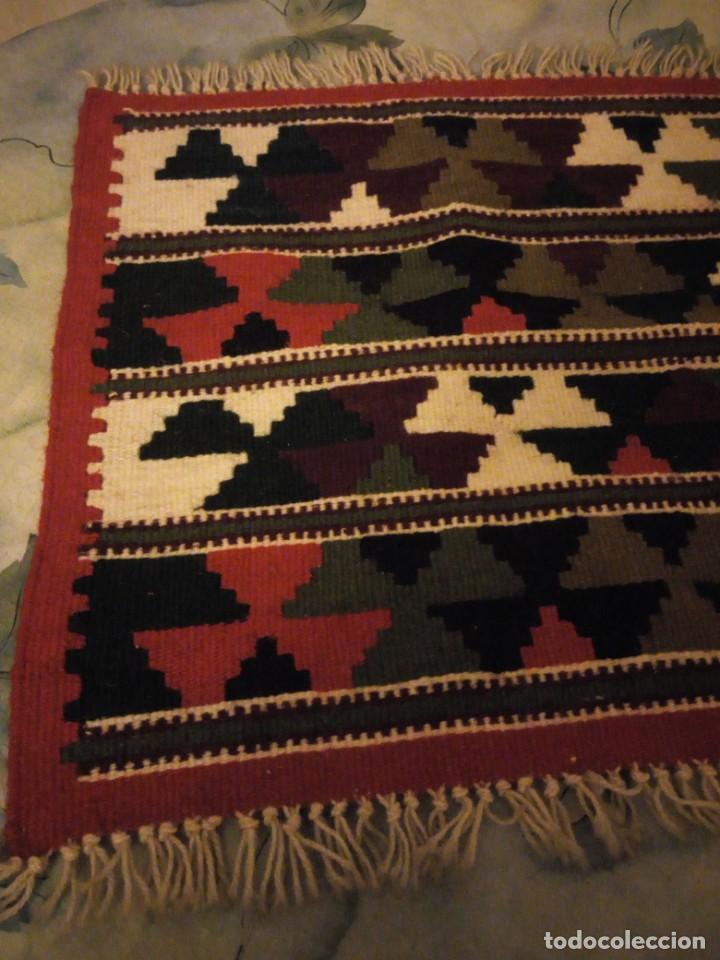 Antigüedades: Precioso tapiz azteca,colores vivos hecho a mano. - Foto 2 - 147217230