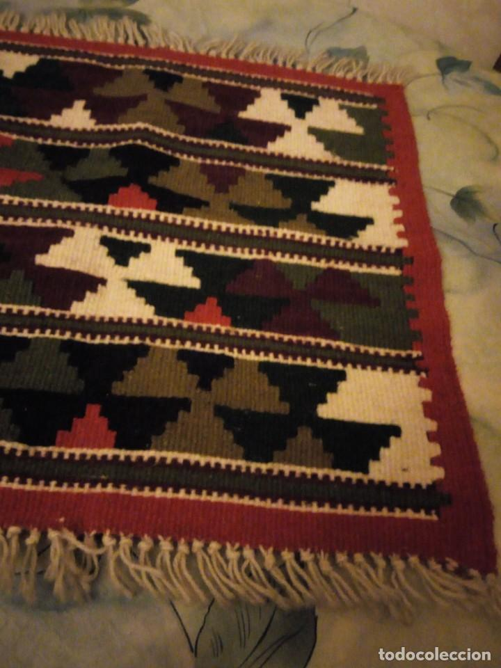 Antigüedades: Precioso tapiz azteca,colores vivos hecho a mano. - Foto 5 - 147217230