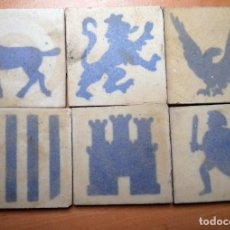 Antigüedades: LOTE DE ANTIGUOS AZULEJOS OLAMBRILLAS. Lote 147217638