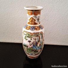 Antigüedades: BONITO JARRON JAPONES GRABADO PORCELANA - 36.CM ALTO. Lote 147224082