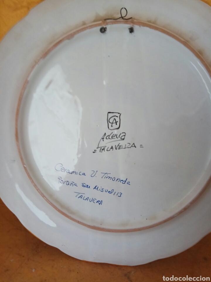 Antigüedades: PLATO DE TALAVERA QUIJOTE 40 CM - Foto 3 - 147240245