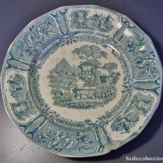 Antigüedades: PLATO PORCELANA DE SARGADELOS ( TERCERA ÉPOCA 1845 – 1862 ) . Lote 147278582