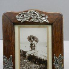 Antigüedades: ANTIGUO MARCO PORTA-FOTOS SOBREMESA VINTAGE EXCELENTE PIEZA DE DECORARON. Lote 147291302