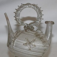 Antigüedades: ANTIGUO BOTIJO CATALAN EN CRISTAL SOPLADO DEL SIGLO XIX. Lote 147293854