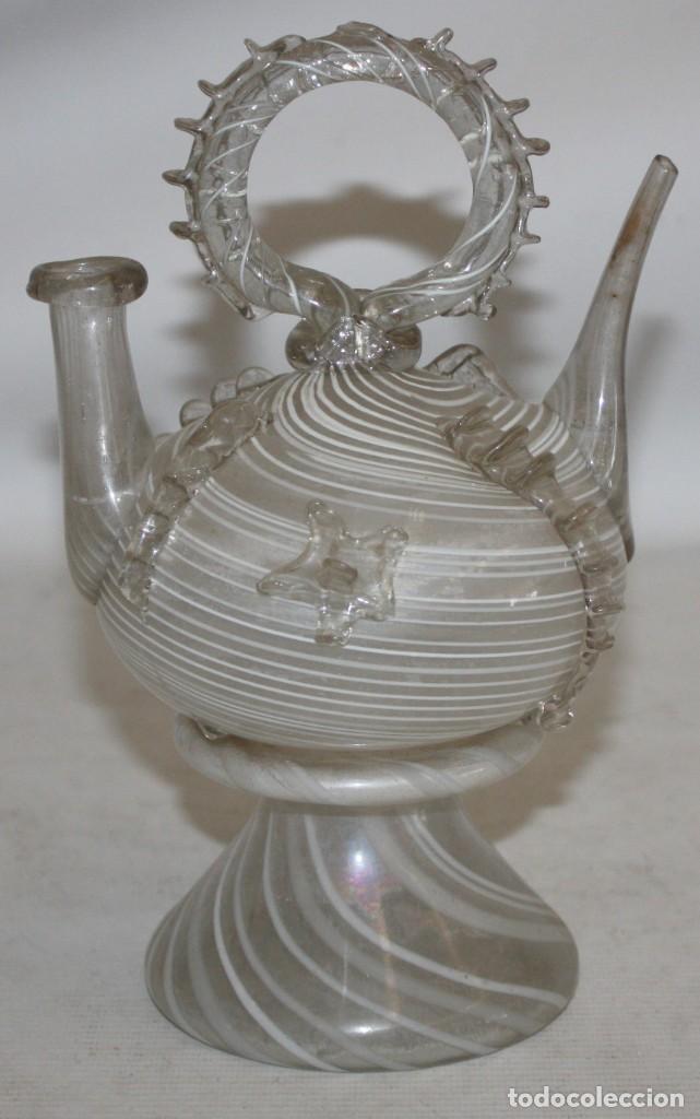 Antigüedades: ANTIGUO BOTIJO CATALAN EN CRISTAL SOPLADO DEL SIGLO XIX - Foto 2 - 147293854