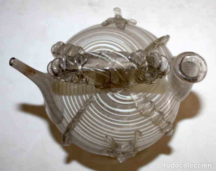 Antigüedades: ANTIGUO BOTIJO CATALAN EN CRISTAL SOPLADO DEL SIGLO XIX - Foto 4 - 147293854
