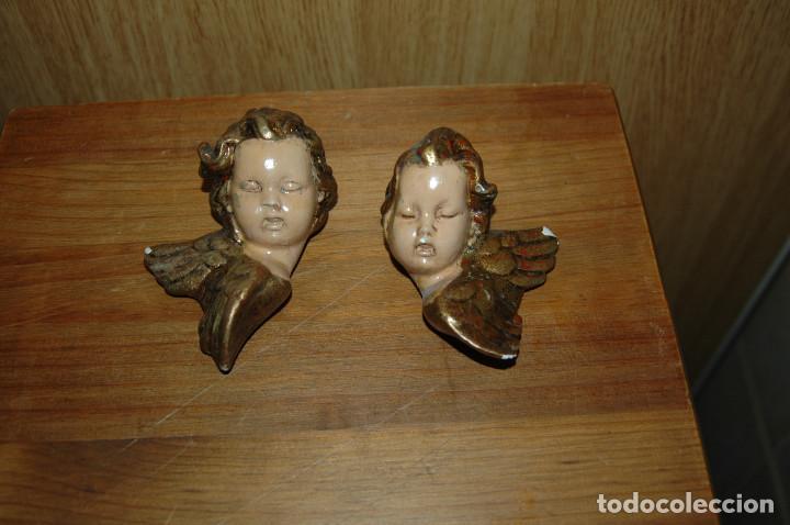 ANGEL ANGELITO ANGELES PARA COLGAR 11 CM ESCAYOLA VER FOTOS (Antigüedades - Religiosas - Varios)