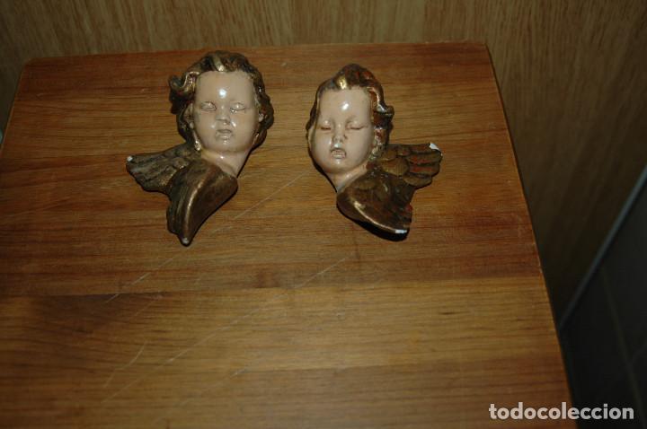Antigüedades: ANGEL ANGELITO ANGELES PARA COLGAR 11 CM ESCAYOLA VER FOTOS - Foto 3 - 147294350