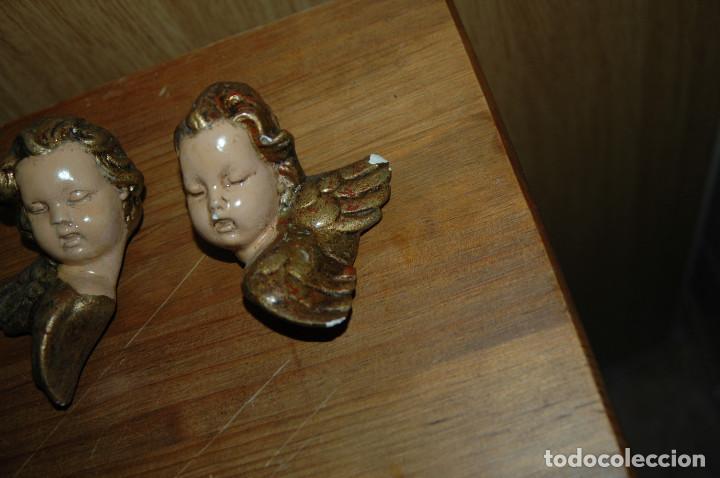 Antigüedades: ANGEL ANGELITO ANGELES PARA COLGAR 11 CM ESCAYOLA VER FOTOS - Foto 4 - 147294350