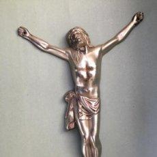 Antigüedades: CRISTO CRUCIFICADO EN METAL PLATEADO, PARA CRUCIFIJO. Lote 147299474