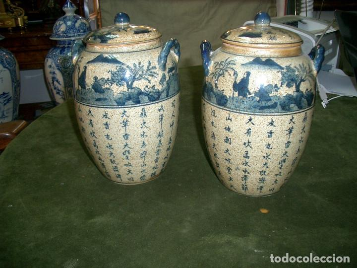 JARRONES CHINOS MEDIADOS SIGLO XX. (Antigüedades - Porcelanas y Cerámicas - China)
