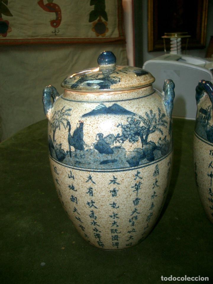 Antigüedades: Jarrones chinos mediados siglo XX. - Foto 2 - 147303106
