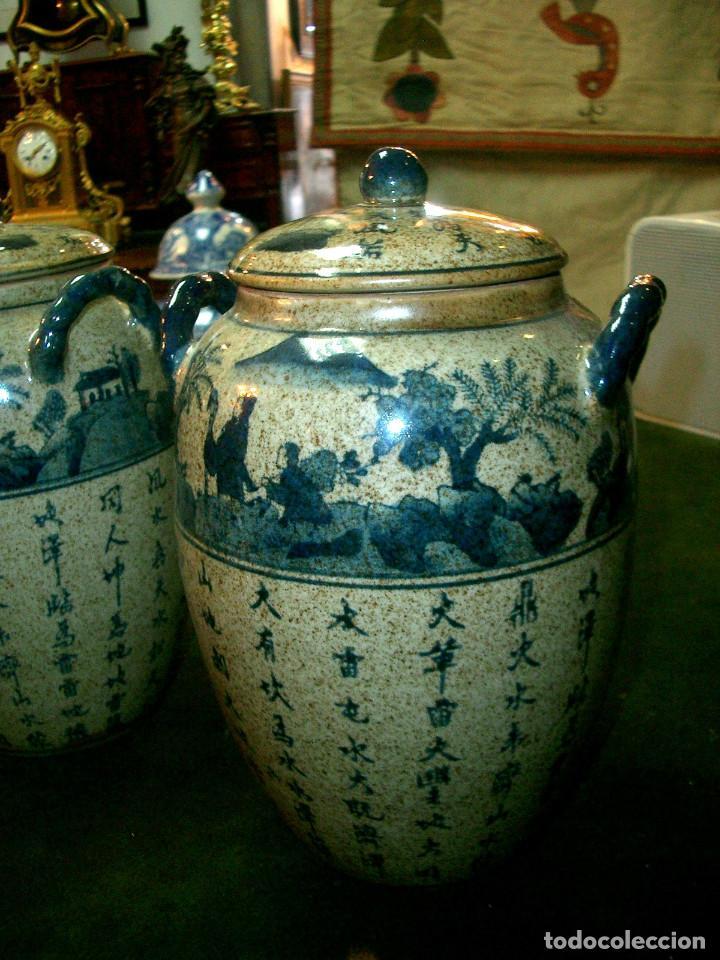 Antigüedades: Jarrones chinos mediados siglo XX. - Foto 3 - 147303106