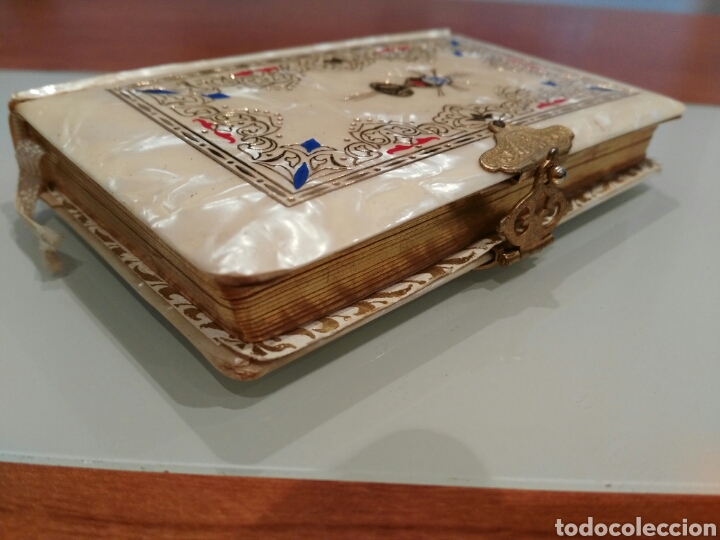 Antigüedades: Libro de comunión antiguo. - Foto 2 - 147333389