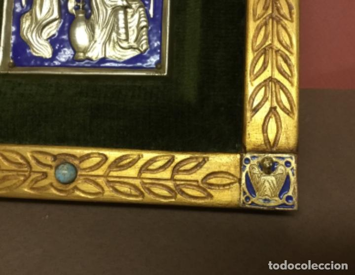 Antiquitäten: Precioso esmalte anunciación modest morato pieza única Sello de autenticidad - Foto 4 - 147341602