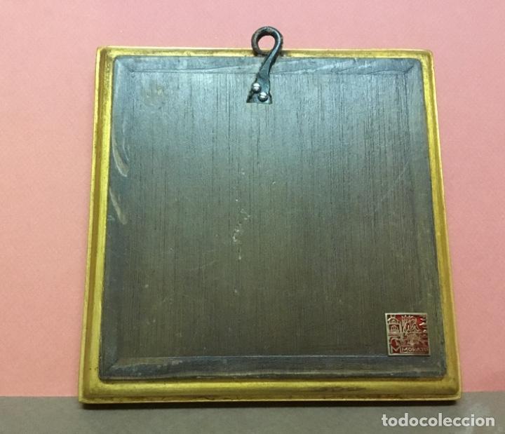 Antiquitäten: Precioso esmalte anunciación modest morato pieza única Sello de autenticidad - Foto 5 - 147341602